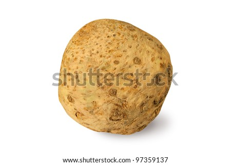 Celery root isolated on a white