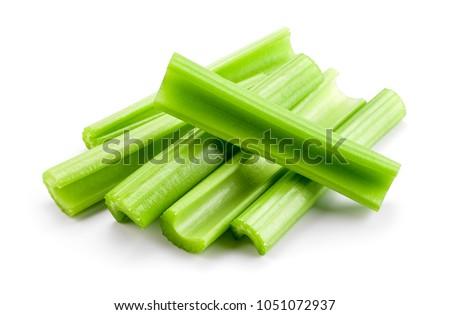 Celery sticks. Celery isolated. celery stalk on white background. Stockfoto ©