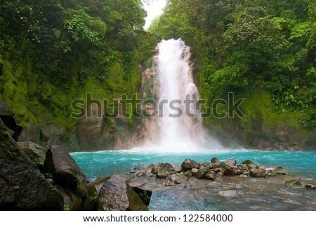 celestial water fall, La Fortuna, Costa Rica