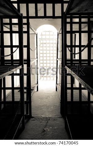 Cell in Yuma territorial prison, Arizona state historic park