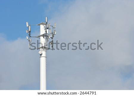 Cell phone and telecommunication tower