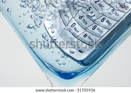 Cell Phone in water