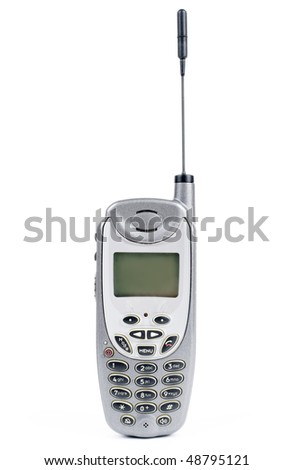 Cell phone isolated on white background