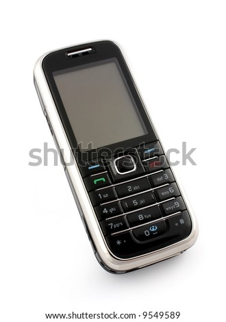 cell phone on a white background
