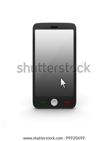 Cell Phone With Mouse point