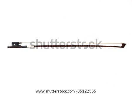 Cello bow isolated over a white background