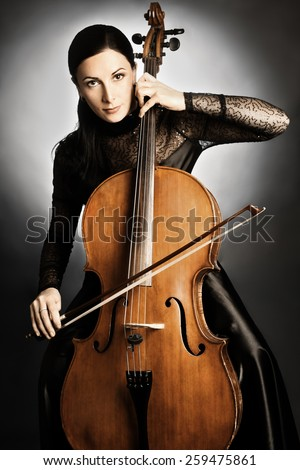 Cello cellist playing musical instrument Classical musician orchestra player
