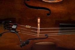 Cello solo recording preparation scene