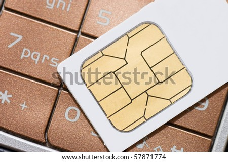 cellphone and sim card