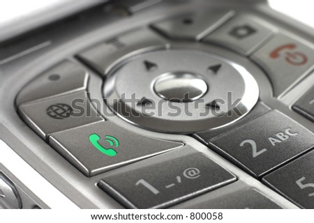 Cellphone Call button closeup