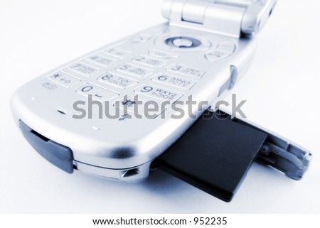 cellphone with SD/MMC card