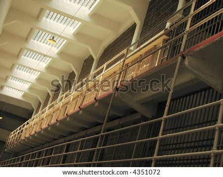 Cells at the Alcatraz Prison (The Rock), Alcatraz Island, San Francisco