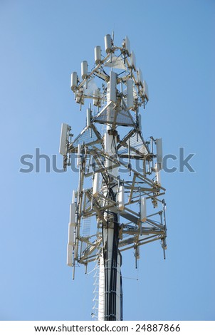 cellular antenna - stock photo