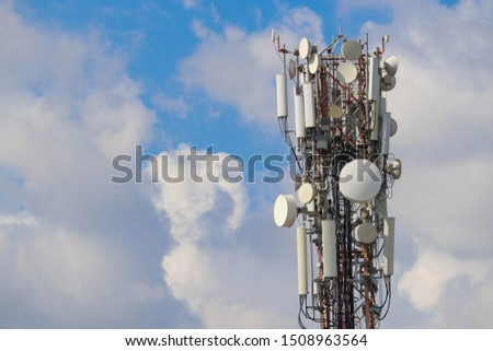 Cellular Telephone Transmitter Towers and Blue Sky Standalone #1508963564