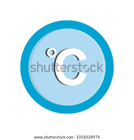 Celsius icon. Flat illustration of celsius  icon isolated on white background