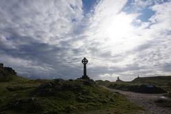 Celtic Cross on Ynys Llanddwyn Anglesey, incredible sky