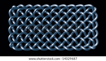 celtic knots design on black background - 3d illustration