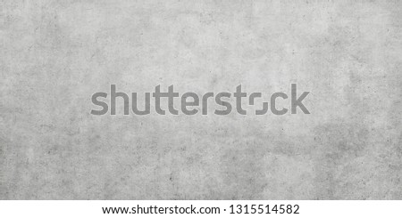 Cement and concrete texture background. Plastered concrete wall or cement floor, rough building material of gray color. Foto stock ©