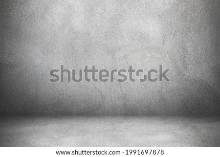 cement and concrete wall and floor with shadow for design.