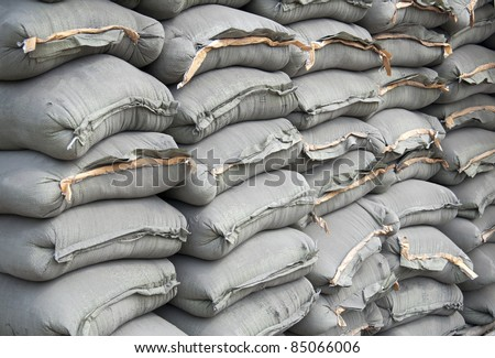 cement bag - stock photo