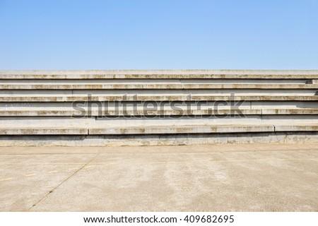 cement bleachers seats in an...