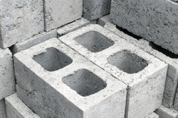Cement blocks used in building construction