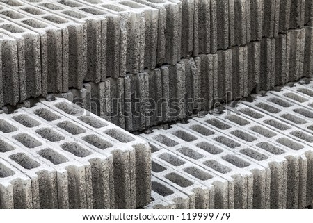 Cement bricks step for Construction