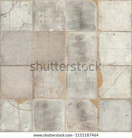 cement concrete painted texture tiled and cracked