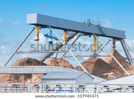 Cement factory machinery - stock photo