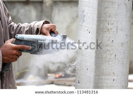 Cement pillar drill