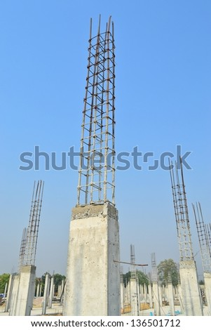 cement pillar in construct site