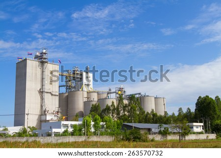 Cement plant in beautiful sky #263570732