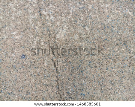 Cement road surface with rough surface