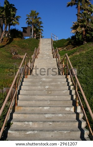 Cement Stairway leading up