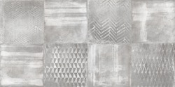 Cement texture with watercolor brush design, digital wall tile surface, grunge background