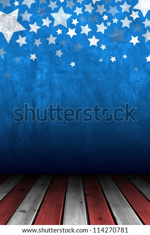 Cement wall for background with stars decorative