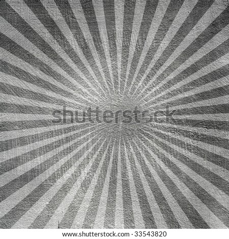 Cement wall with sunburst.  Backgrounds and textures. - stock photo