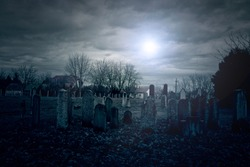 Cemetery at midnight