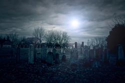 Cemetery at midnight