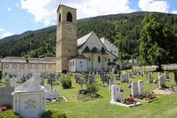 Cemetery at St John's Abbey, Val Müstair, Switzerland