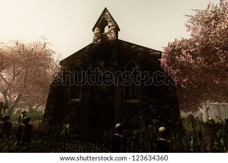 Cemetery Crypt 3D render