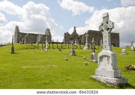 Cemetery in Clonmacnoise, Ireland #86631826