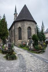 Cemetery in Salzburg.