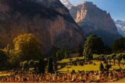 Cemetery in the Lauterbrunnen Valley