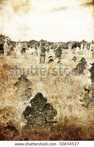 cemetery in village of 19th...