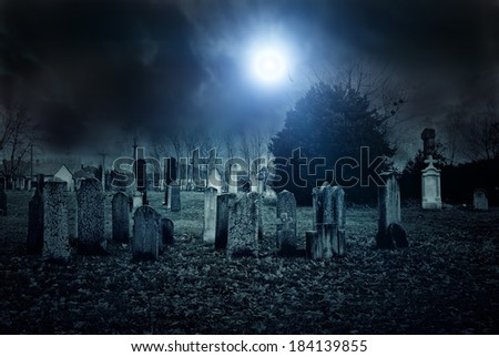 Cemetery night Stockfoto ©