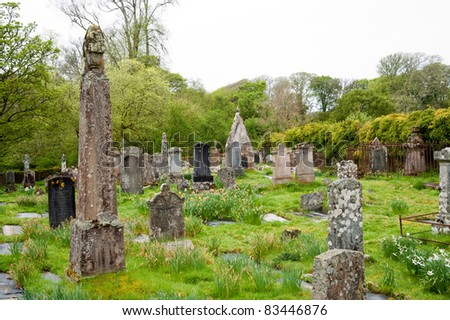 Cemetery on the isle of Islay