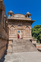 Cenotaph at Jami Masjid mosque in Champaner historical city, Gujarat state, India