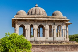 Cenotaph at Kevda Masjid mosque in Champaner historical city, Gujarat state, India