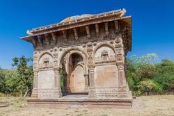 Cenotaph at Nagina Masjid mosque in Champaner historical city, Gujarat state, India